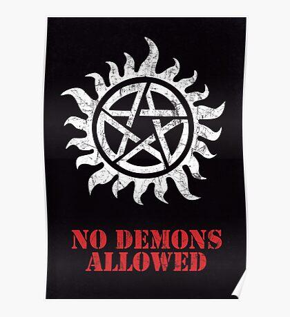 Supernatural No Demons Allowed [WHITE] Poster