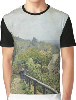 Alfred Sisley - Louveciennes Or, The Heights At Marly Graphic T-Shirt