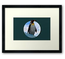 Abstract Penguin Framed Print