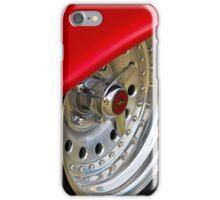 Red skirt chrome wheel - Chevrolet BelAir iPhone Case/Skin