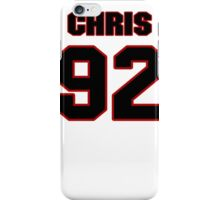 NFL Player Chris Baker ninetytwo 92 iPhone Case/Skin