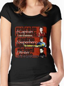 The Captain, The Superhero, and The Writer Quotes Women's Fitted Scoop T-Shirt
