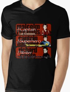 The Captain, The Superhero, and The Writer Quotes Mens V-Neck T-Shirt