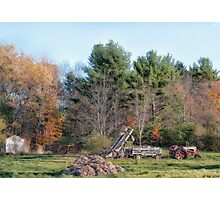 Autumn On The Farm Photographic Print