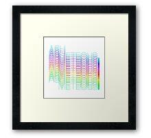 Rainbow Ash Meteors Logo Framed Print