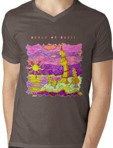 FUN BEACH LIGHTHOUSE OCEAN SEASCAPE Mens V-Neck T-Shirt