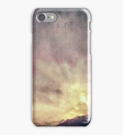 Alps on a winter day iPhone Case/Skin