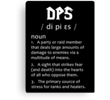 Definition of a DPS (white) Canvas Print