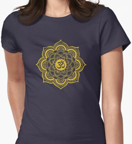 Sacred Geometry Ohm Womens Fitted T-Shirt