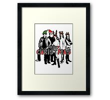 Merry Christmas from The Scooby Gang! Framed Print
