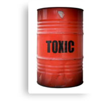 Toxic Waste Barrel Canvas Print