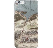 Lands of Shadowgate Map iPhone Case/Skin