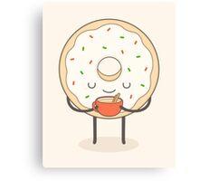 donut loves holidays Canvas Print