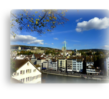 View from Lindenhof Canvas Print
