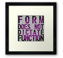 Form vs Function Framed Print
