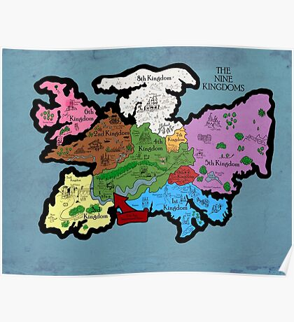 Map of the Nine Kingdoms Poster