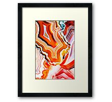 Agate the Colorful Layers of Earth Framed Print