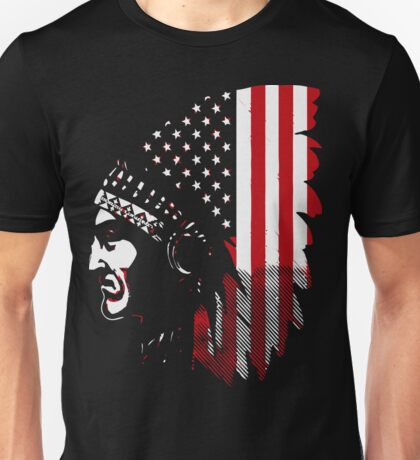 Native american us flag Unisex T-Shirt