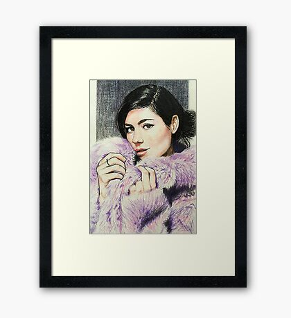"""Marina and the Diamonds 3 - """"If I could buy forever at a price"""" Framed Print"""