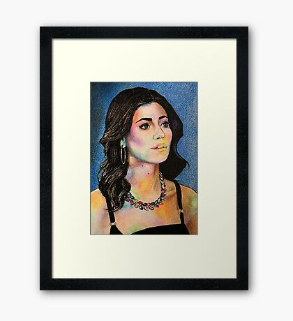 """Marina and the Diamonds 4 - """"But I believe in divinity"""" Framed Print"""