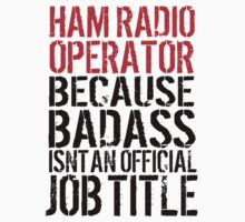 Awesome HAM Radio Operator because Badass Isn't an Official Job Title' Tshirt, Accessories and Gifts by Albany Retro