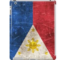 Vintage Aged and Scratched Filipino Flag iPad Case/Skin