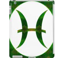 Pices Symbol and Heart Chakra Abstract Spiritual Artwork  iPad Case/Skin