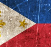 Vintage Aged and Scratched Filipino Flag Sticker