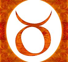 Taurus and Sacral Chakra  Abstract Spiritual Artwork  by owfotografik