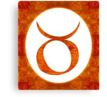 Taurus and Sacral Chakra  Abstract Spiritual Artwork  Canvas Print