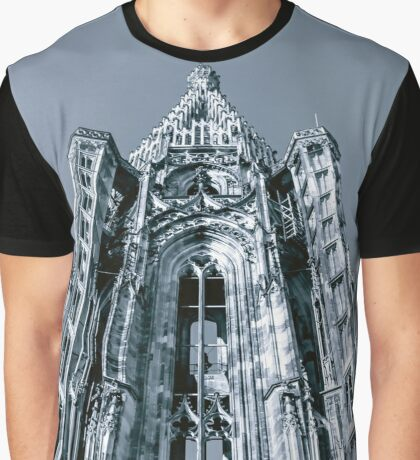Tower of Strasbourg Cathedral isolated perspective view Graphic T-Shirt