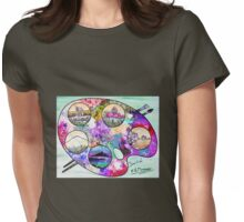 Sicily on a palette. Womens Fitted T-Shirt