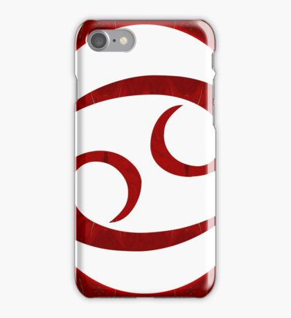 Cancer and Root Chakra Abstract Spiritual Artwork  iPhone Case/Skin