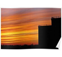 Sunset in the Big City, NYC Poster