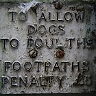 No fouling on the footpaths by Roxy J