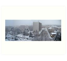 Town under the snow Art Print