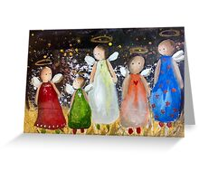 angels for Christmas 2014 Greeting Card