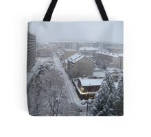 Town under the snow Tote Bag