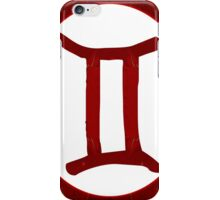 Gemini and Root Chakra Abstract Spiritual Artwork iPhone Case/Skin