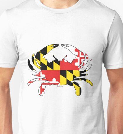 Maryland Flag Crab Unisex T-Shirt