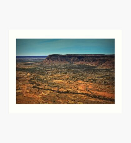 Kings Canyon ... from a helicopter. Art Print