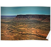 Kings Canyon ... from a helicopter. Poster