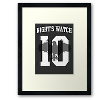 Night's Watch Jersey Framed Print