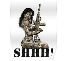 Shhh ! Special Forces Pinup, 7th SFG Poster