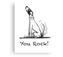 Iggy Pup: You Rock Canvas Print
