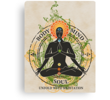 Mind Body and Soul KUNDALINI Canvas Print