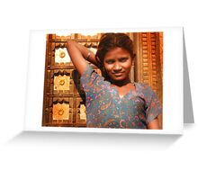 Rohet girl Greeting Card