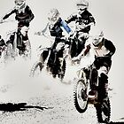 The Race is On  - Motocross Racers by NaturePrints