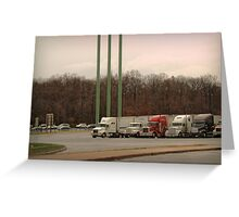 Truck Stop Greeting Card