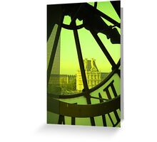 The Clockwork vert Greeting Card